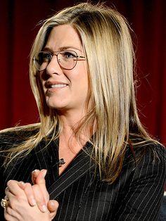 Jennifer Aniston's wire rim glasses.