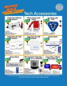 Tech Accessory Super Sale until September 30, 2016 from Unforgettable Promotions!
