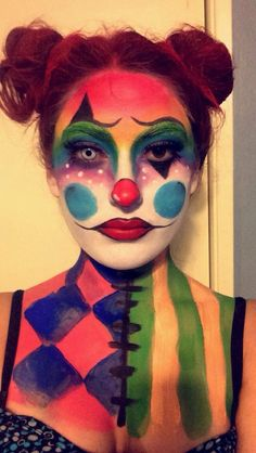 Halloween Clown Makeup for women