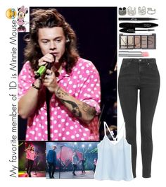 """Watching The Boys Preform at The Apple Music Festival"" by monafce ❤ liked on Polyvore featuring NOVICA, Topshop, H&M, Stila, Lancôme, York Wallcoverings, women's clothing, women, female and woman"