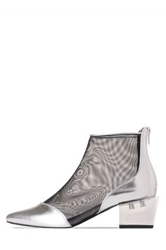 Jeffrey Campbell Shoes OTHELLO-LH New Arrivals in Silver Clear