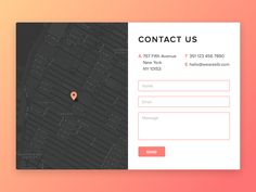 Contact Us - Daily UI #028 (Sketch File)