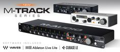 The M-Track and M-Track Plus now feature a rugged all-metal chassis and studio–quality audio performance, and an expanded software suite is included with the M-Track Eight interface.