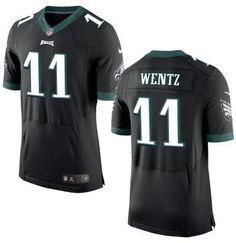 Men's Philadelphia Eagles #11 Carson Wentz Nike Black Elite 2016 Draft Pick Jersey