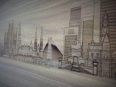 Quer eternizar o skyline de sua cidade preferida em madeira para colocar em sua parede? A Dröm Design faz a arte que você desejar. Dröm Custom Shop - Moema / Sp www.drom.com.br/loja  #wood #laserengraving #skyline #city #customdesign #picture #frame #panel #board #design #dromdesign #dromcustomshop #custom #art