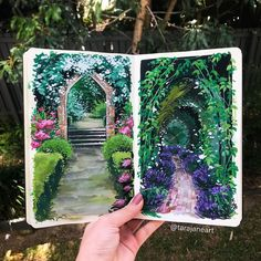 Tara Jane Crandon is a self-taught artist and psychologist from Brisbane, Australia who creates mesmerizing illustrations inspired by nature. Art Inspo, Kunst Inspo, Sketchbook Inspiration, Painting Inspiration, Sketchbook Ideas, Journal Inspiration, Art Et Nature, Instagram Inspiration, Arte Sketchbook