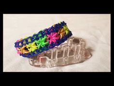 Monster Tail STARBURST Bracelet. Tutorial and looming by Cheryl Mayberry. Click photo for YouTube tutorial. 07/03/14.