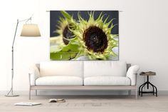 Wandkleed Sunflowers Sofa, Couch, Wall Hangings, Furniture, Posters, Home Decor, Settee, Settee, Decoration Home