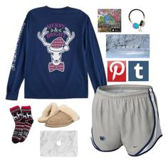 """""""I'm Dreaming of a White Christmas"""" by annalavelle13 ❤ liked on Polyvore featuring NIKE, UGG Australia and Frends"""