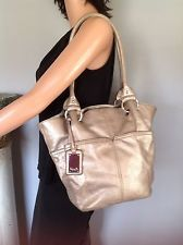 Tignanello Genuine Leather Bag Silver Designer Fashion Chic Purse