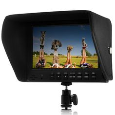 7 Inch On-Camera HD 1080P DSLR Monitor with Multiple Input Options and High Contrast Ratio