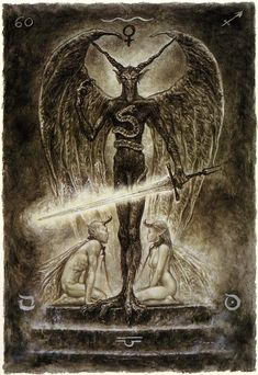 XV. The Devil - The Labyrinth Tarot by Luis Royo