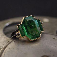 Colombian Muzo emerald ring.