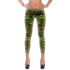 German WWII SS OakLeaf Spring Camo All-Over Leggings