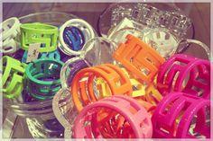 sequin enamel bangle bracelet
