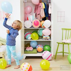 Surprise your children on Easter Morning with Easter Egg Balloons! Even teachers can play this game and hide them everywhere in the classroom