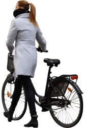 Cutout Woman Bicycle 0006 available for download in M size