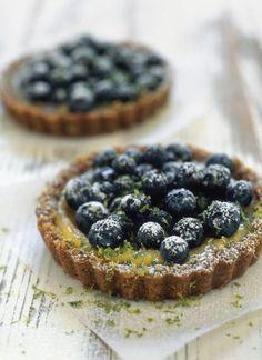Blueberry-Lime Ginger Tartlets
