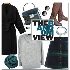 Teal look by mada-malureanu on Polyvore featuring moda, Jaeger, Tory Burch, Furla, Bling Jewelry, Bajra, GlassesUSA, women's clothing, women's fashion and women