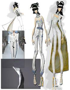Fashion Sketchbook - fashion illustrations; fashion design process; fashion portfolio // Kandice Chavous