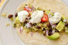 Quinoa-Black Bean Fajita Filling with Cilantro and Lime - Three Many Cooks