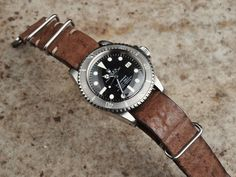 B&S Hand-made Leather Nato Strap 20mm