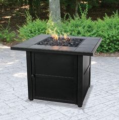 Fire Pit Table Outdoor Gas Fireplace Propane LP Patio Heater Backyard  Furniture #Uniflame