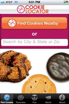 There's an app for everything! Girl Scout cookie locator app. Download yours by calling **GSCOOKIES from your Smartphone!