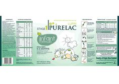 Purelac Lupin Formula Milk Brand and Packaging Design - Label