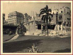 Aqui a demolição da bela construção em 1935. Pouco antes de sua demolição ali funcionava o Diário da Noite. Vê-se a esquerda da demolição o viaduto do chá saido da praça do Patriarca.