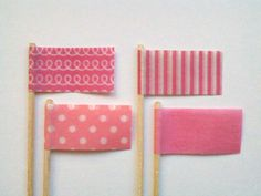 washi tape flags  wishywashi .com for the tape great for cake toppers