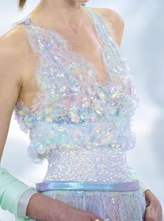 Chanel haute couture S/S 2014 via chiffon et ribbons