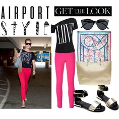 Rebecca at the airport by kc-spangler on Polyvore featuring Kenzo, Dorothy Perkins, Louis Vuitton, Le Specs, GetTheLook, travel, airport, airportstyle and RebeccaRomjin