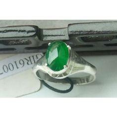 Full Green Jadeite Ring