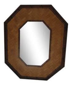 Bamboo Mirror, Faux Bamboo, Vintage Decor, Rattan, Boho Chic, Hollywood Regency, Shape, Home Decor, Products