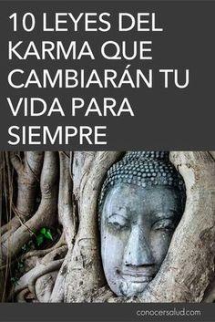 10 Leyes del Karma que cambiarán tu vida para siempre - Conocer Salud Laura Lee, Clara Berry, Lectures, Tantra, Life Motivation, Reiki, Feng Shui, Life Lessons, Psychology