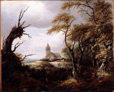 ヤーコプ・ファン・ロイスダール Jacob van Ruisdael : Landscape with a Church : Dulwich Picture Gallery