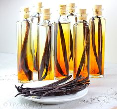 Homemade Vanilla Extract, Tahitian and Bourbon Beans...get started now for holiday gifts