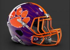 Sweet Clemson concept helmet my Tigers should wear!