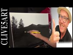 BOB ROSS   Wilderness Day   TRIBUTE   Canvas Preparation   Acrylic painting, #clive5art - YouTube