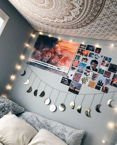 Cute Room Ideas, Cute Room Decor, Teen Room Decor, Diy Room Decor Tumblr, Wall Decor, Diy Wall, Room Ideas Bedroom, Bedroom Decor, Teen Bedroom