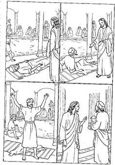 genezing de verlamde in bethesda bijbel kleurplaten