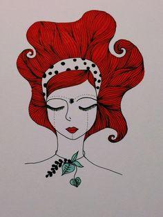 Red hair girl.