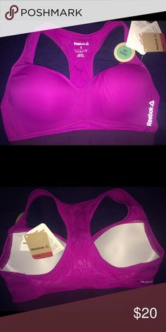 Reebok Crossfit High Impact Sports Bra Built-in bra with padded cups and racerback. Wide elastic under the bust for extra support. Brand New w/tags. Reebok Intimates & Sleepwear Bras
