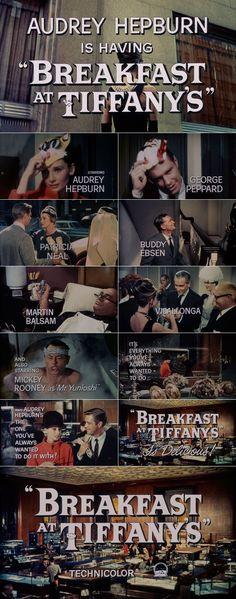 Breakfast at Tiffanys (1961) trailer typography
