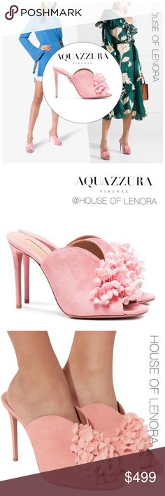 f705df5abdd AQUAZZURA Lily of the Valley Pink 105 Mule Expertly constructed from soft  suede