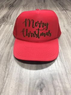 Merry Christmas Trucker Hat Hat Shop ba1dfdf23aad