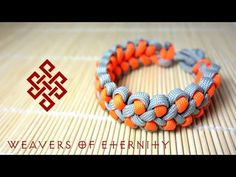 How To Tie A Shark Jaw Bone Paracord Bracelet Without Buckle - YouTube