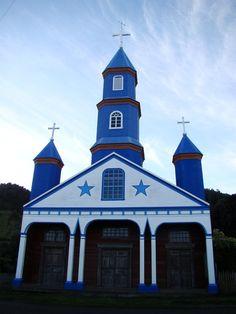Iglesia de Tenanú, también conocida como Iglesia Ntra. Señora del Patrocinio, en Chiloé, X Región, Chile