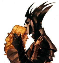 Phob's cartoons of Melkor and Sauron are beautiful and amusing, but I have to include this picture on this board (rather than my 'Funnies' board) because the expression on Sauron's face is wonderful!